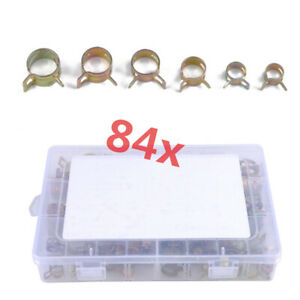 84x Car Truck Oil Fuel Line Hose Clamp Water Tube Pipe Clip Fastener 10mm-18mm