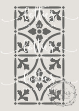 A5 STENCIL VICTORIAN TILES 003 Furniture Vintage ❤ REPEATABLE 190 MYLAR