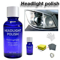 9H Hardness Auto Car Headlight Len Restorer Repair Liquid Polish Cleaning kit