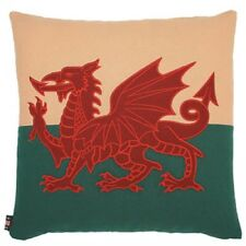 "18"" Welsh Red Dragon Wales Flag Cymru Tapestry Cushion - Double Sided Cotton"