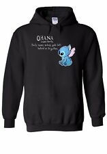 Disney Lilo and Stitch Ohana Men Women Unisex Top Hoodie Sweatshirt 1766