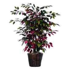 4 Ft Capensia Bush Tree Pot Fake Bloom Basket Artificial Plant Elegant Décor New