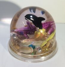 "Alaska Snow Globe Features Jumping Whales & Sea Shells 3""x 3.5"""