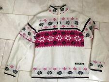 "Ladies dare 2be Teflon Ski Jumper - 40"" - Norwegian Style White Pink"
