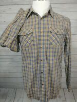 Aeropostale Authentic Fit Western Cut Pearl Snap Shirt L/S Men's Size Medium