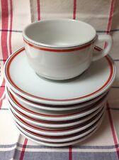 Porcelaine d'Auteuil Service Bistrot :  Soucoupe / Sous tasse pour déjeuner