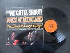 """DUKES OF DIXIELAND / CLARA WARD """"WE GOTTA SHOUT!"""" UK MONO LP CBS GOSPEL"""