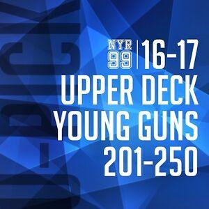 16-17 Upper Deck Young Guns U-Pick from List #201-250