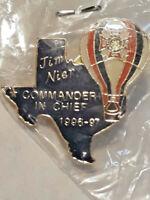 VTG VFW Veterans of Foreign Wars Texas 1996-97 Commander Lapel Pin ~ Ships FREE