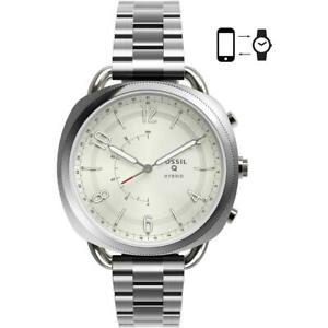 Womens Hybrid Smartwatch FOSSIL Q ACCOMPLICE FTW1202 Stainless Steel White