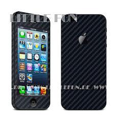 iPhone Hülle Case Aufkleber Carbon Sticker Klebefolie Schutz für iPhone5 Schwarz