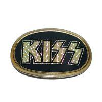 Vintage 1977 KISS Prism Reflective Belt Buckle Pacifica MFG Rare