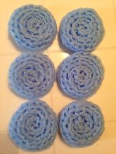 6 Light Blue -- NYLON NET POT SCRUBBIES