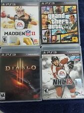 *All 4 GAMES* Grand theft Auto 5, Madden 11, NHL 13, DiablO 3 for PS3