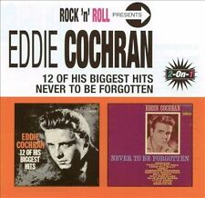12 of His Biggest Hits/Never to Be Forgotten by Eddie Cochran (CD, Jul-2001,...