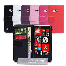 Accessories For The Nokia Lumia 720 PU Leather Wallet Case Cover & Screen Film