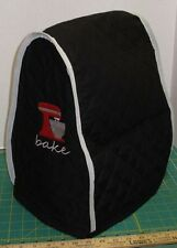 KitchenAid Mixer Appliance Cover~Black Quilted~Tilt Head~4.5/5 Qt~Embroidery NEW
