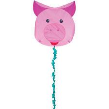 Kite Pig Animal Face Fun Flyer Single Line Kite Winder & String..11.. PR 17341