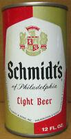 SCHMIDT'S OF PHILADELPHIA LIGHT BEER ss 12oz CAN, PENNSYLVANIA, 3 City, BO, 1/1+