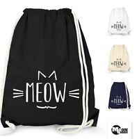 Turnbeutel Katze Meow Miau Cat Tier - Moonworks®