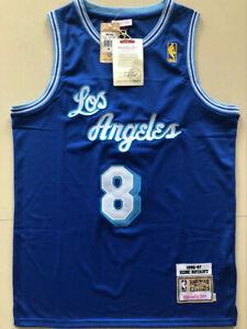 8# Kobe Bryant 96-97 Los Angeles Lakers Hardwood Classics Men's Jersey Blue