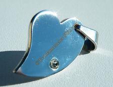 Collier Pendentif 100% Acier Coeur Love Strass + Chaine