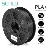 SUNLU PLA+ 3D Printer Filament 1.75mm 1KG Spool Black PLA PLUS Printer Filament