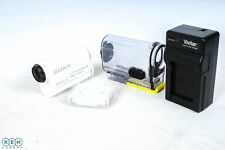 Sony HDR-AS100V HD Action Cam Video Camera, White, With Waterproof Housing