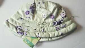 NWT Gymboree Baby Girl Vintage 2003 Cherry Blossom Layette Green/Purple HAT 6-12
