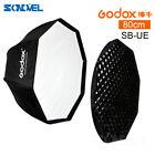 Godox SB-UE 80cm Octagon Honeycomb Grid Umbrella Softbox+Bowens Mount for Flash