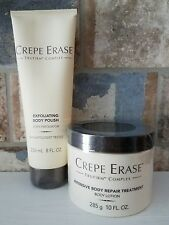 Set of Sealed Crepe Erase Full Size Body Repair Treatment and Body Polish