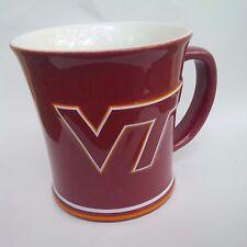 NCAA LICENSED VT VIRGINIA TECH HOKIES 15 OUNCE SCULPTED CERAMIC COFFEE MUG