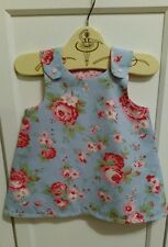 Handmade Baby Girls 6-12 months Pinafore Dress Cath Kidston Rosali rose Fabric