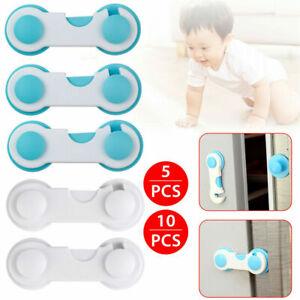 5/10 White Child Baby Cupboard Cabinet Safety Locks cabinet Door Drawer Lock UK