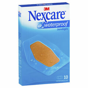 NEXCARE WATERPROOF BANDAGES LARGE FIRST AID WOUND DRESSING BAND AID 10 PACK