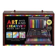Christmas gift ORIGINAL 140 Art  Coloring Supplies 142Piece Art set case 4 kids