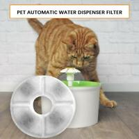 2/4/6 Pc Pet Fountain Automatic Water Dispenser Activated Carbon Filt N7S6