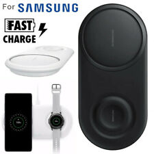 2 in 1 Fast Charging Wireless Charger Pad For Samsung Galaxy S10/S10+/Watch S2