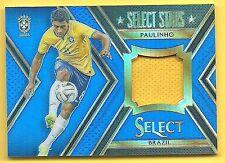 2015 Select Paulinho Game Jersey #/99 Blue Prizm Refractor Brazil Brasil