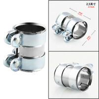 2.5'' Stainless Steel Car Muffler Clamp Exhaust Pipe Tube Band Flanges Clip Bolt