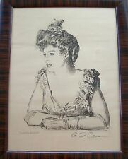 Antique Print~Gibson Girl Portrait~Charles D. Gibson~Original Frame~C1800's~RARE