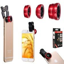 3in1 FishEye Wide Angle Macro Telephoto Lens Camera for iPhone 8 PLUS iPhone x