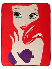 Disney The Little Mermaid Ariel Minimalist Super Plush Throw Blanket Gift NWT!