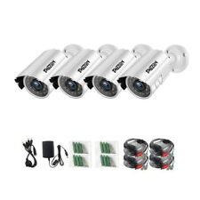 TMEZON 4PK 1080P TVI Security Cameras Outdoor 90ft Night Vision Home CCTV Kit