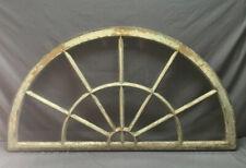 Antique 14 Lite Arched Half Round 30 x 56 Window Shabby Vintage Chic 422-19Lr
