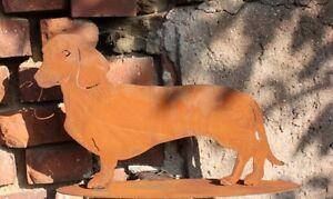 Edelrost Hund / Dackel Tierfigur Rost