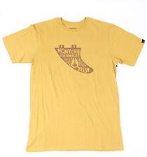 Nixon Mens Graffiti Fin Short Sleeve T-Shirt Vintage Orange M New