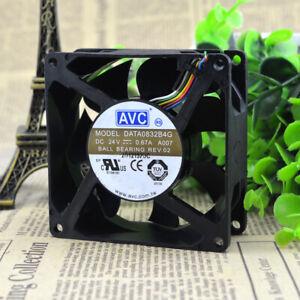 AVC DATA0832B4G 24V 0.67A 8032 8CM 4-wire 4pin double ball inverter fan