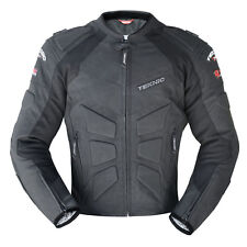 M/40 Mens Teknic Mercury Summer Perforated Leather Motorbike Jacket Black