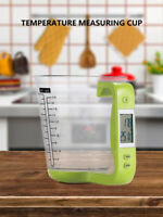 Kitchen Scale Electronic Measuring Cup with LCD Digital Temperature Display ONY